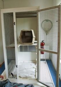 Cage dans laquelle Joey a passé 9 ans